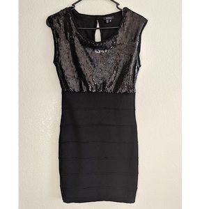 Sequin Top fitted Dress